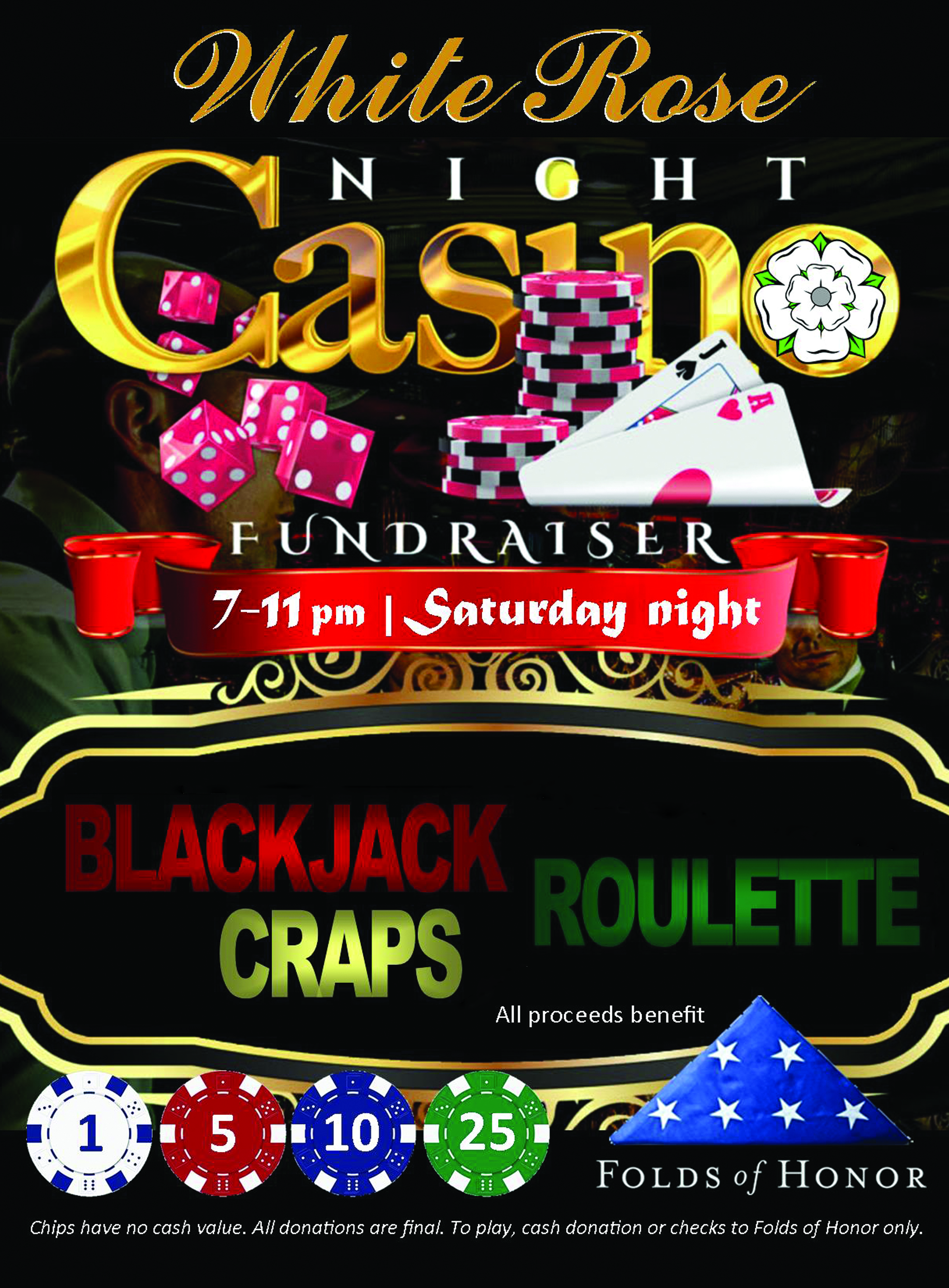 whiterosecasinonight